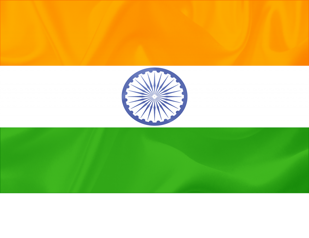 indian flag, india, flying flag